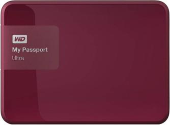 Внешний жесткий диск Western Digital My Passport Ultra New 500Gb Red