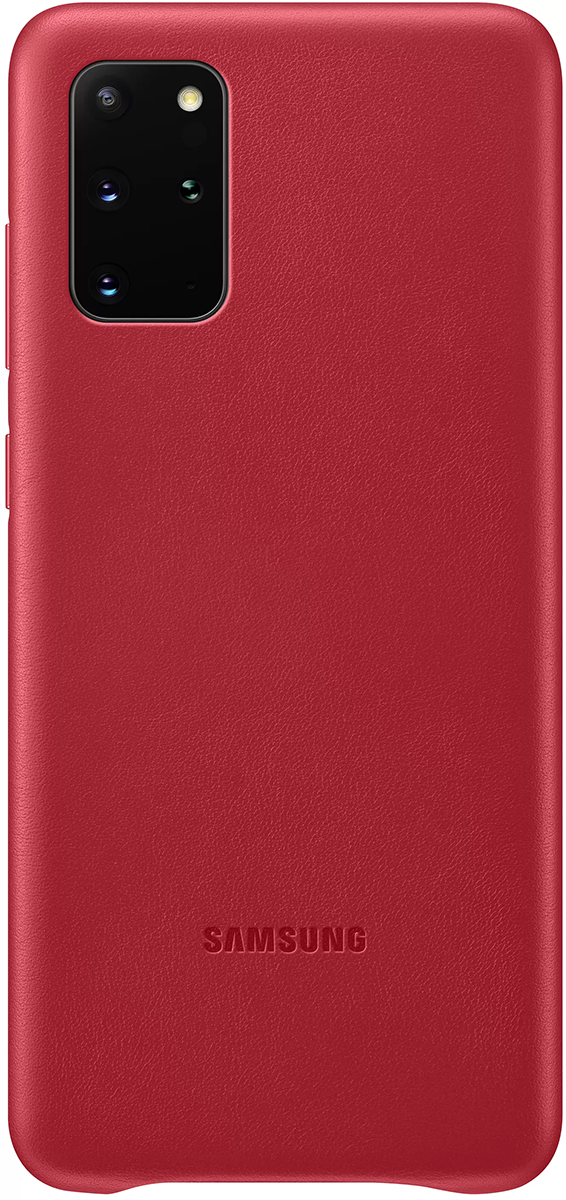 Чехол Samsung Leather Cover S20+ Red фото