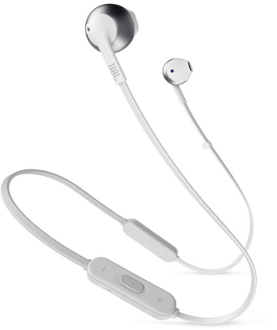 Наушники JBLНаушники<br>Наушники JBL Tune 205BT — легкие, компактные и мощные. Компоновка Pure Bass позволяет четко воспроизводить басы, делая каждую композицию ритмичной и насыщенной. При этом они не подавляют другие частоты — звучание получается чистым и детализированным. Устройство предоставляет владельцу полную свободу действий. Оно подключается к смартфону по Bluetooth и получает питание от аккумулятора, рассчитанного на 6 часов воспроизведения музыки. Для подзарядки ему требуется втрое меньше времени.